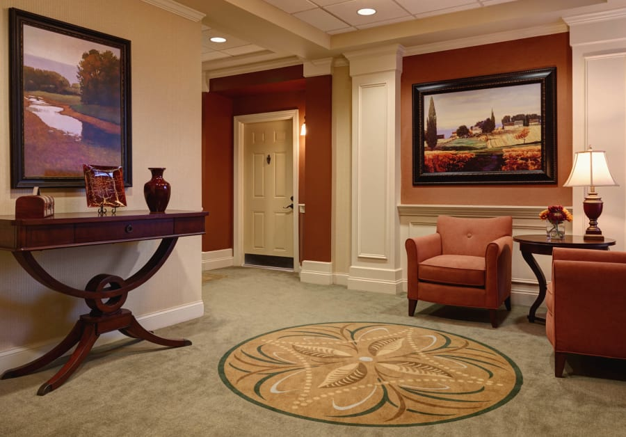 Living space at Waltonwood Providence in Charlotte, NC