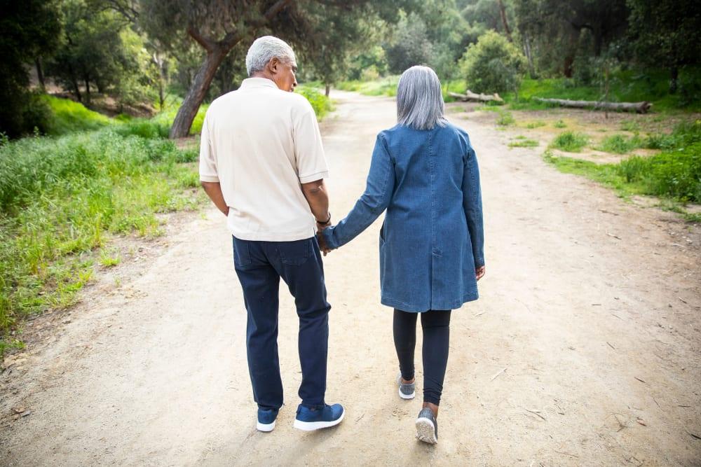 Residents enjoying walking path near Holden of Bellevue in Bellevue, Washington