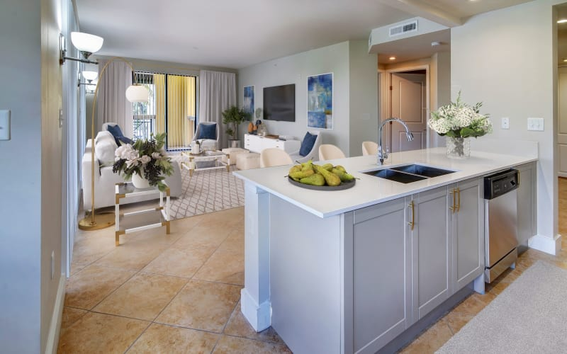 Bright kitchen at The Heritage at Boca Raton in Boca Raton, Florida