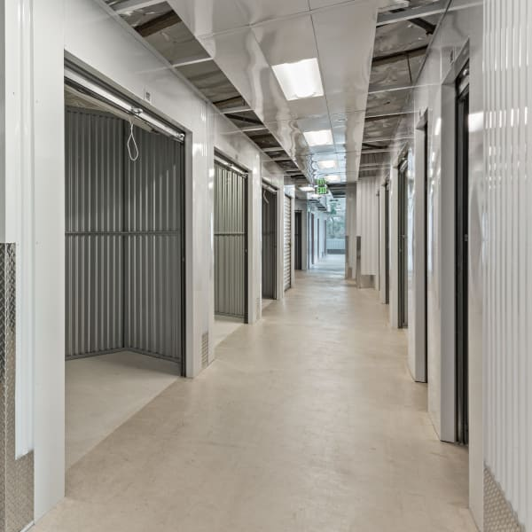 Climate controlled indoor storage units at StorQuest Self Storage in Naples, Florida