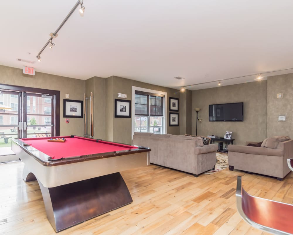 Billiards table at Westville Village Apartments in New Haven, Connecticut