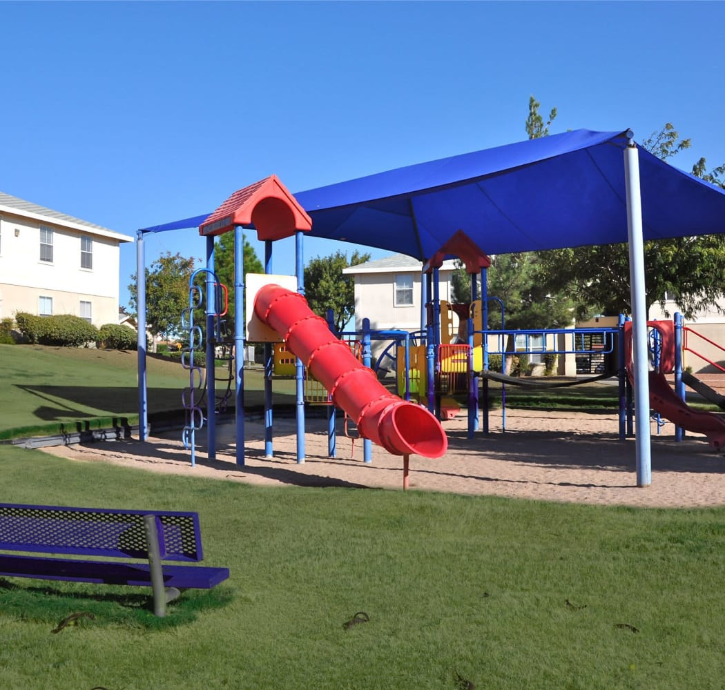 Covered playground at The Patriot Apartments in El Paso, Texas