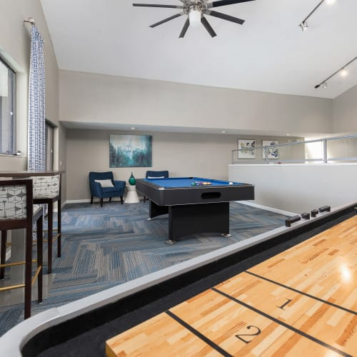 View virtual tour of game room at WestEnd At 76Ten in Tampa, Florida