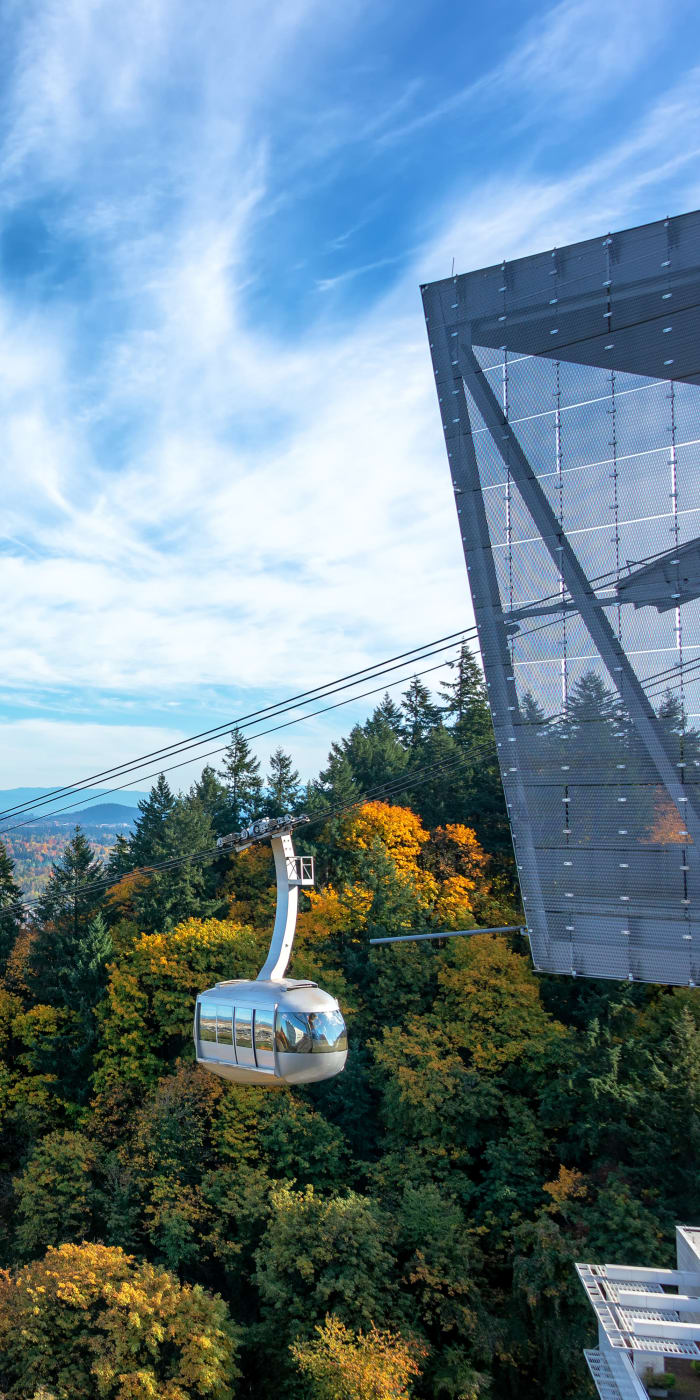 Close to the aerial tram at Marquam Heights in Portland, Oregon