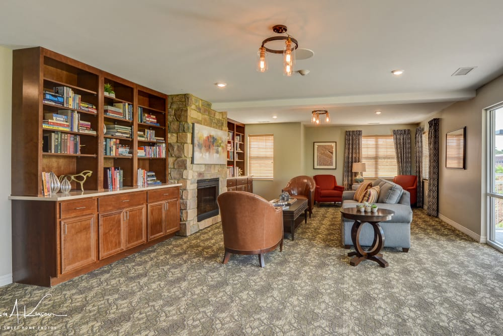 Beautiful study room at Arcadia Senior Living Clarksville in Clarksville, Tennessee