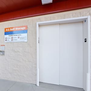 Large elevator for convenience at A-1 Self Storage in San Diego, California