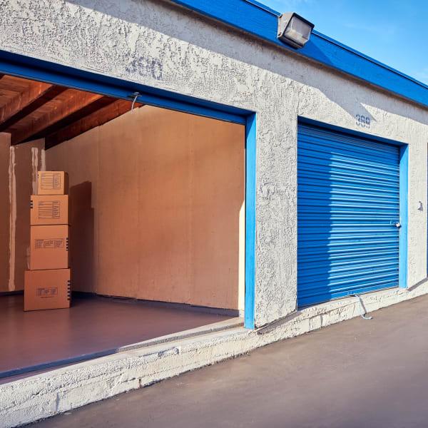 Open Storage Unit at Stor'em Self Storage in San Marcos, California