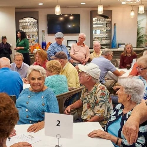 Social gatherings for residents at Celebration Village Forsyth in Suwanee, Georgia