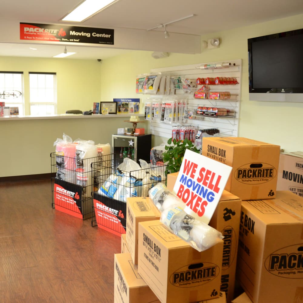 Variety of packing supplies available at Lock Box Self Storage in Mt Juliet, Tennessee