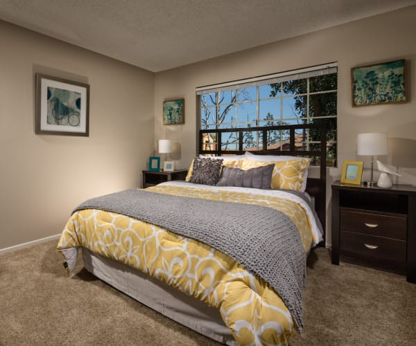 Wonderful Bedroom at Sierra Heights Apartments in Rancho Cucamonga, California
