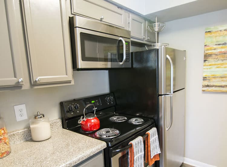 Energy-efficient appliances at Stonecrossing of Westchase in Houston, Texas.