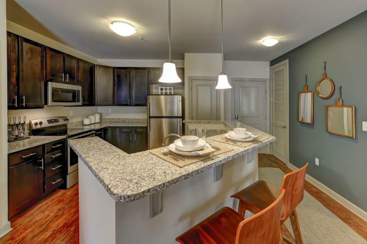 Fully-equipped kitchen at 401 Oberlin in Raleigh, North Carolina