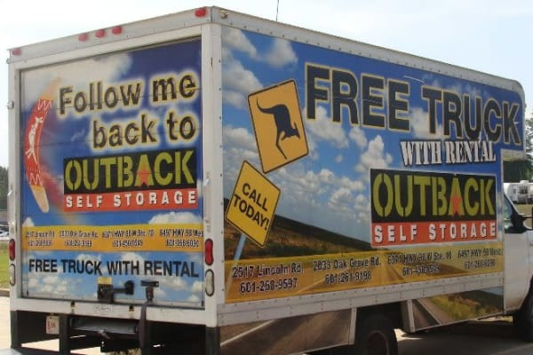 Follow our truck to Allsafe Storage in Hattiesburg, Mississippi