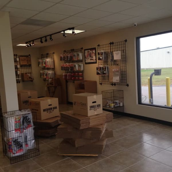 Boxes and packing supplies available at StorQuest Self Storage in Richmond, Texas