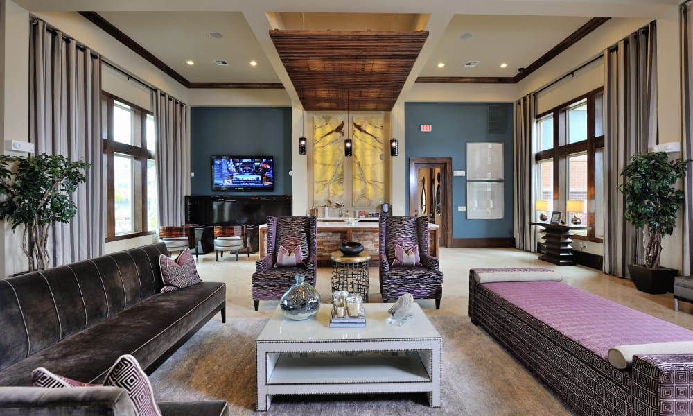 Modern reception at apartments in Katy, Texas