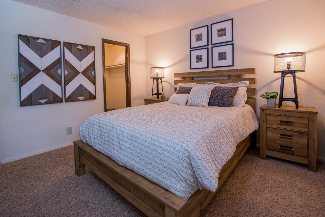 Eagle Point Apartments master bedroom in Tulsa, Oklahoma