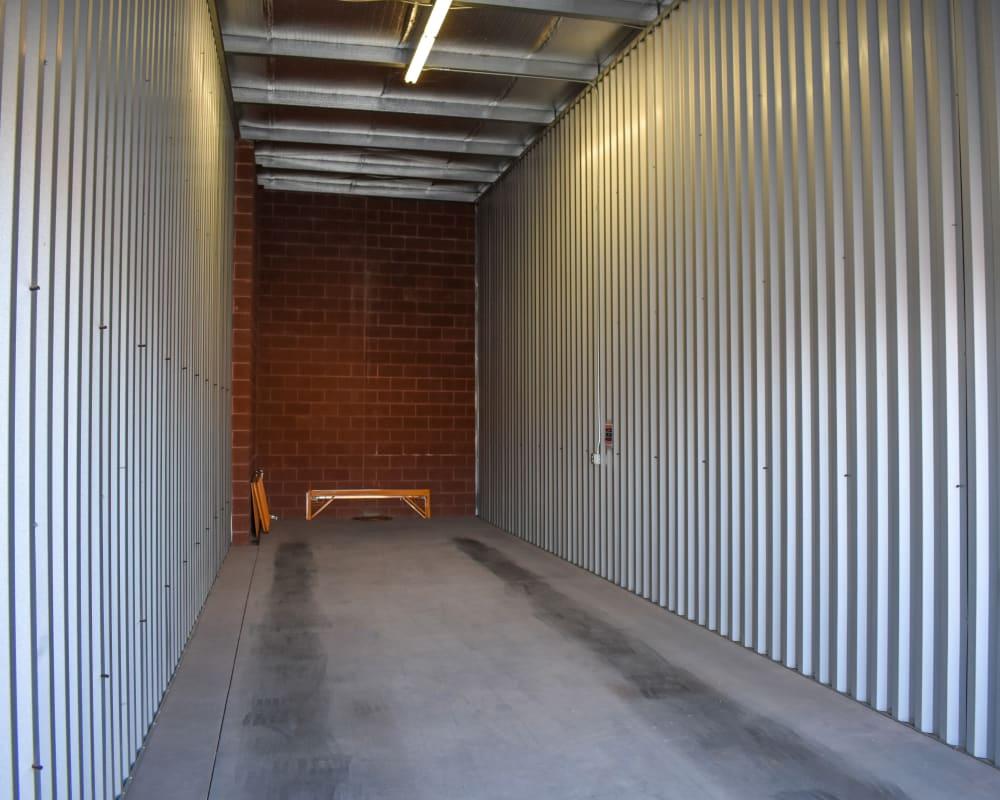 Enclosed RV storage at STOR-N-LOCK Self Storage in Hurricane, Utah