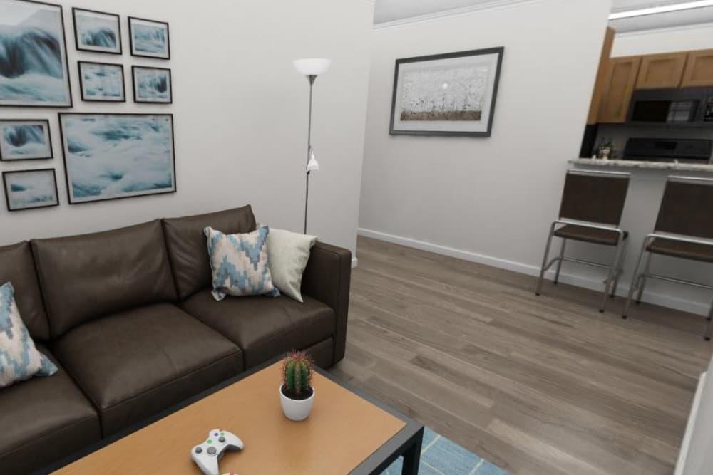 Modern living room at The Flatts Salisbury in Salisbury, Maryland