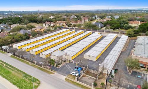 Storage Street Arial View at Huebner Mini-Stor in San Antonio, Texas