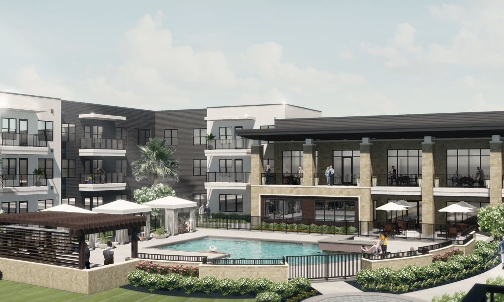 Rendering of the backside of Inspirations at the Towncenter in Jacksonville, Florida.