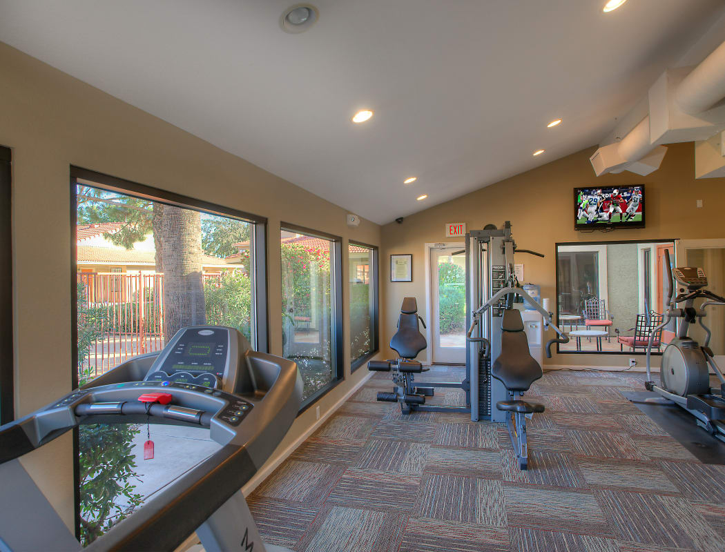 Fitness center at Argenta Apartment Homes