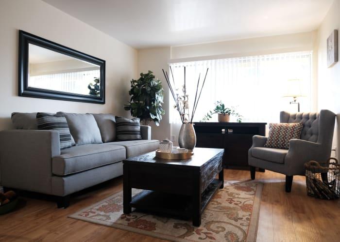 Living room at The Terraces at Park Marino in Pasadena