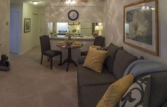 Living space at independent living facility in Canton, MI