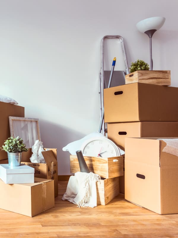 Items being prepared for storage at Devon Self Storage in Grand Rapids, Michigan