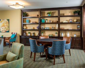 Study lounge at Meridian at Stone Creek in Milton, Washington