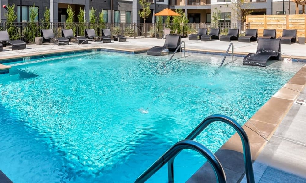 Sparkling pool at Alexander Pointe Apartments in Maineville, Ohio
