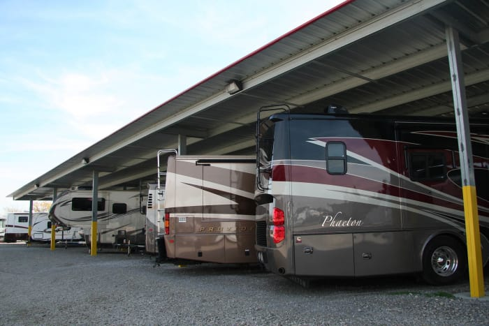 We offer RV storage at Advantage Storage -  Stonebrook in Frisco, Texas