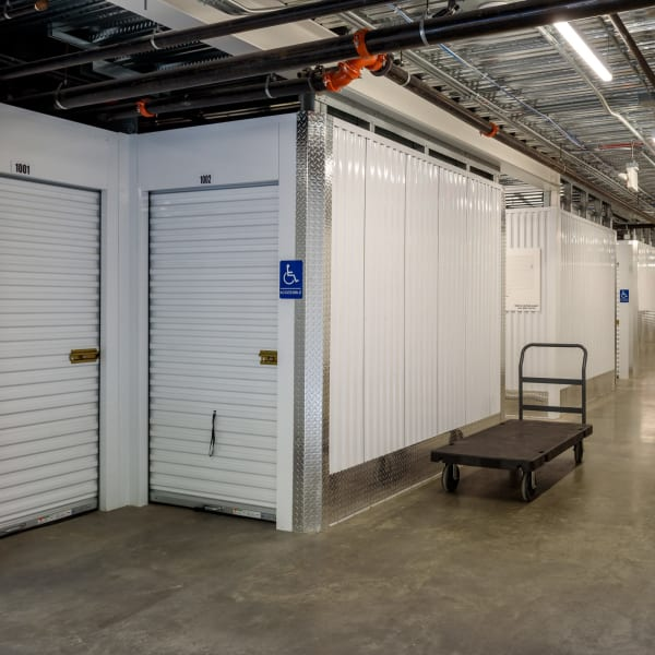 Moving carts available at StorQuest Self Storage in Seattle, Washington