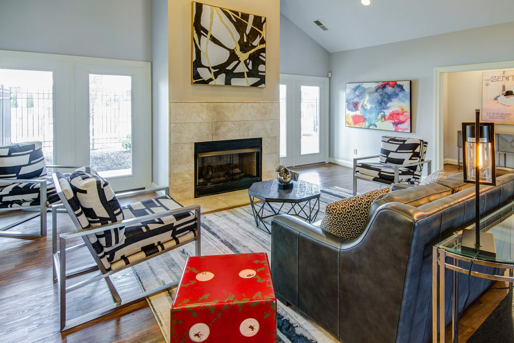 Clubhouse area to relax in at Aspen Pines Apartment Homes in Wilder, Kentucky