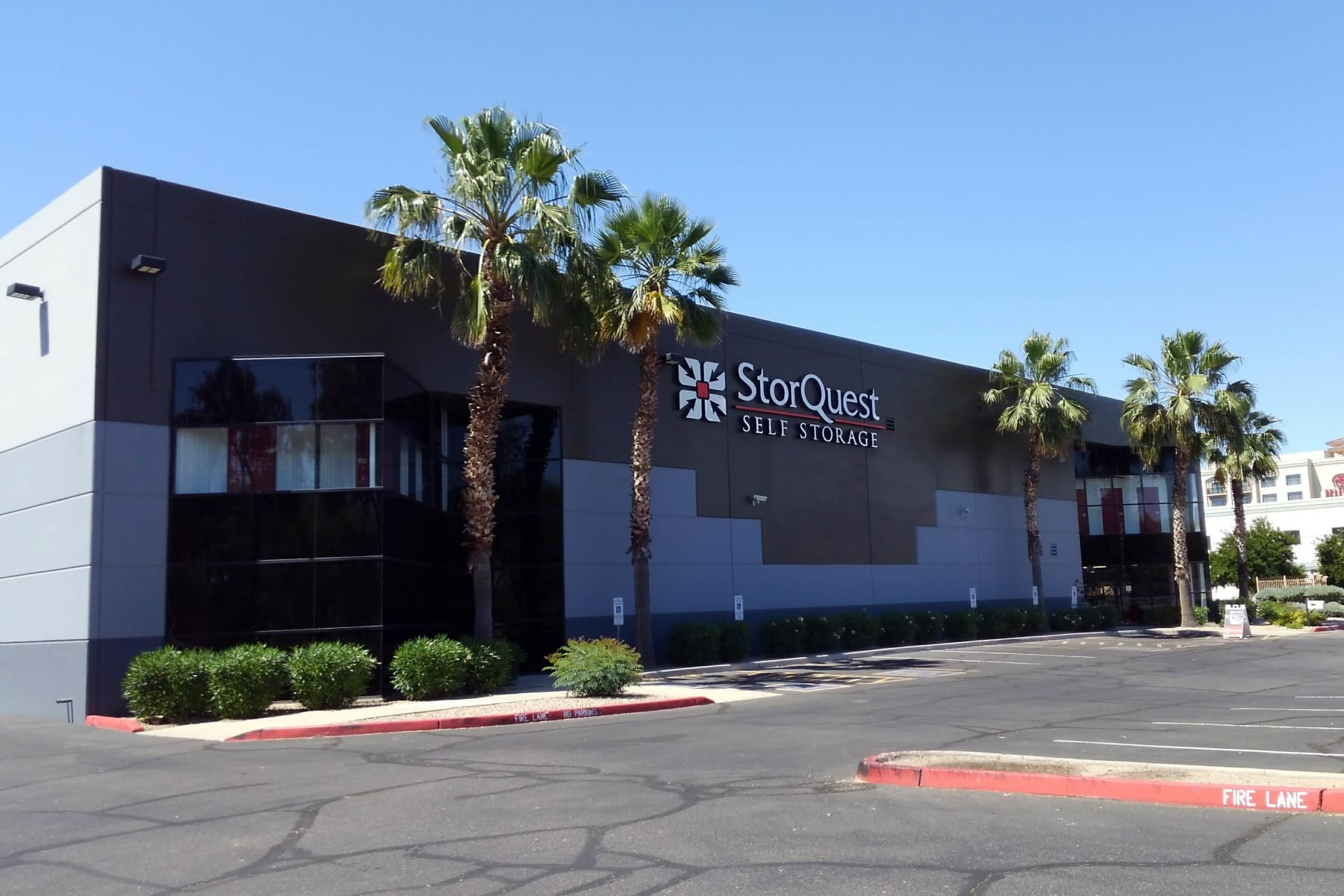 Store front of StorQuest Self Storage in Chandler, Arizona