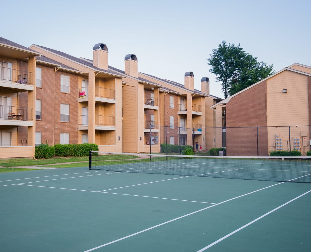 Tennis court at Windsail Apartments in Tulsa, Oklahoma