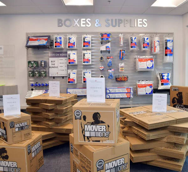 Packing and moving supplies for sale at Edgemark Self Storage - Glendale in Glendale, Colorado