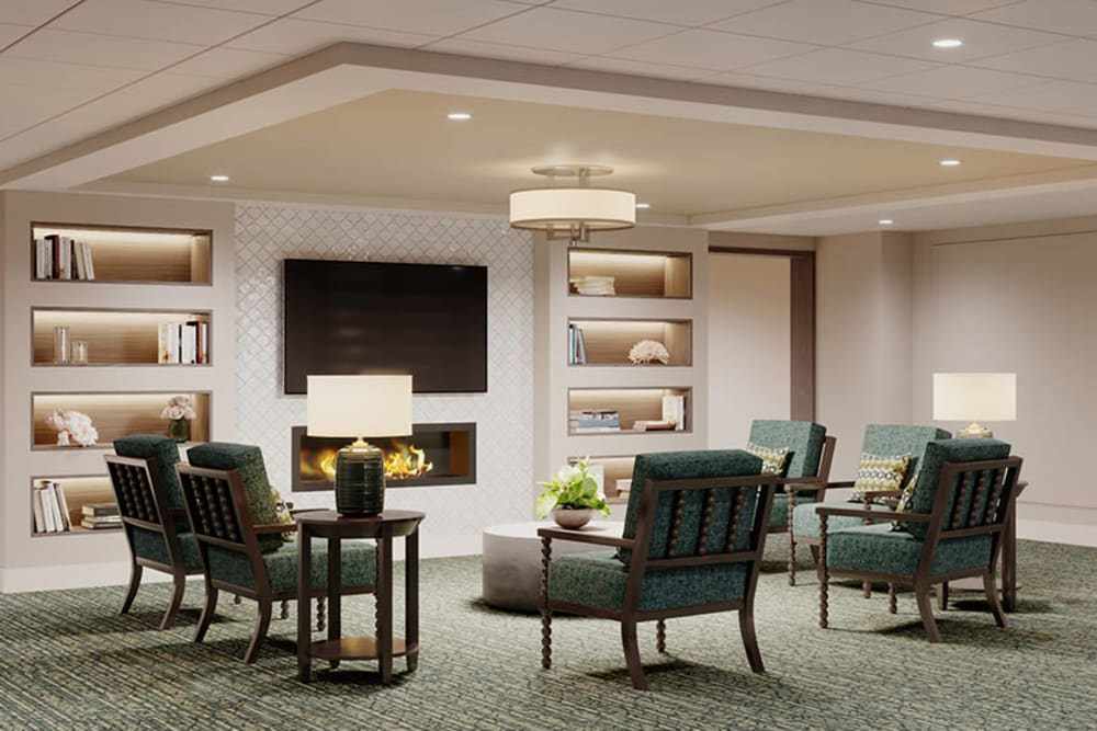 Common area rendering of The Meridian at Brandon in Tampa, Florida