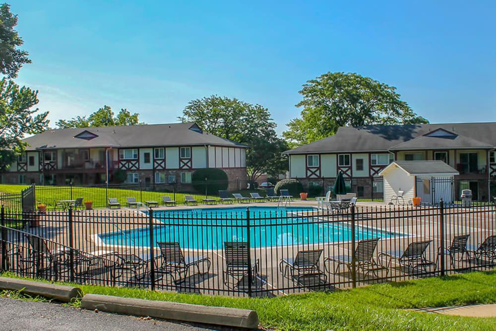 Swimming pool at King's Manor Apartments in Harrisburg, Pennsylvania