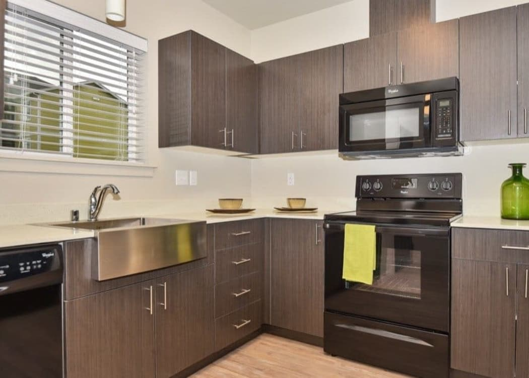 Luxury kitchen at Rock Creek Commons in Vancouver, Washington