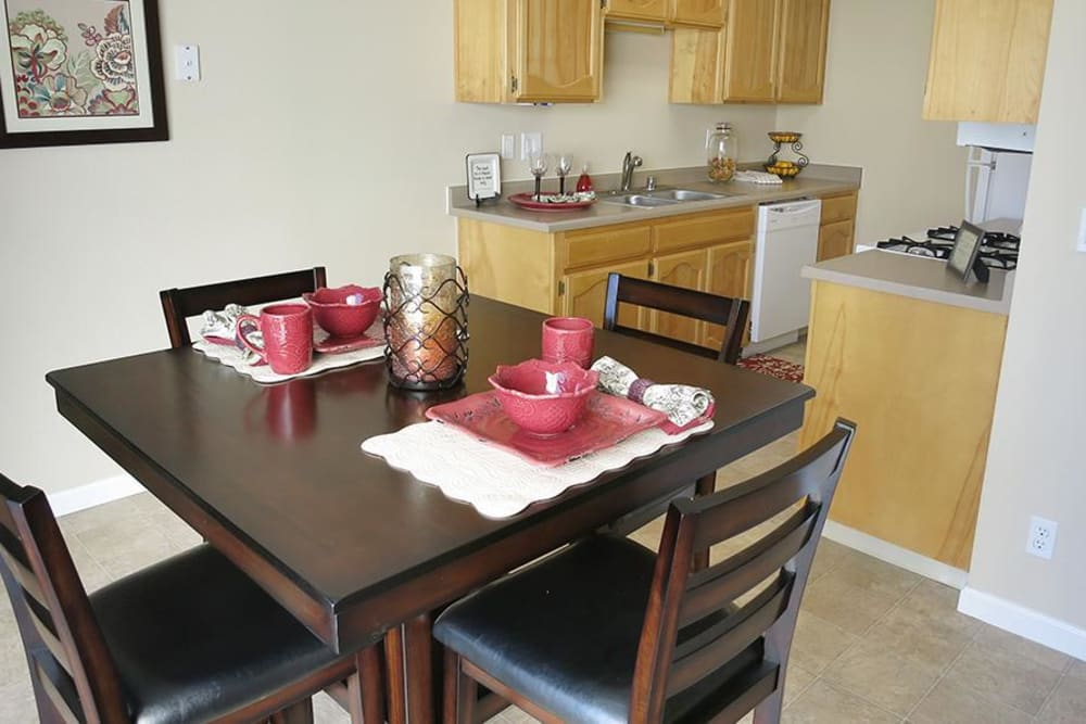 Open Dining Room at the Senior Living Community in Atwater