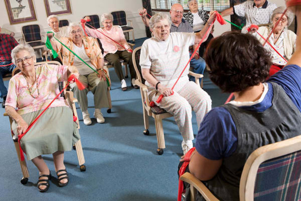 Therapy classes at Senior Commons at Powder Mill in York, Pennsylvania