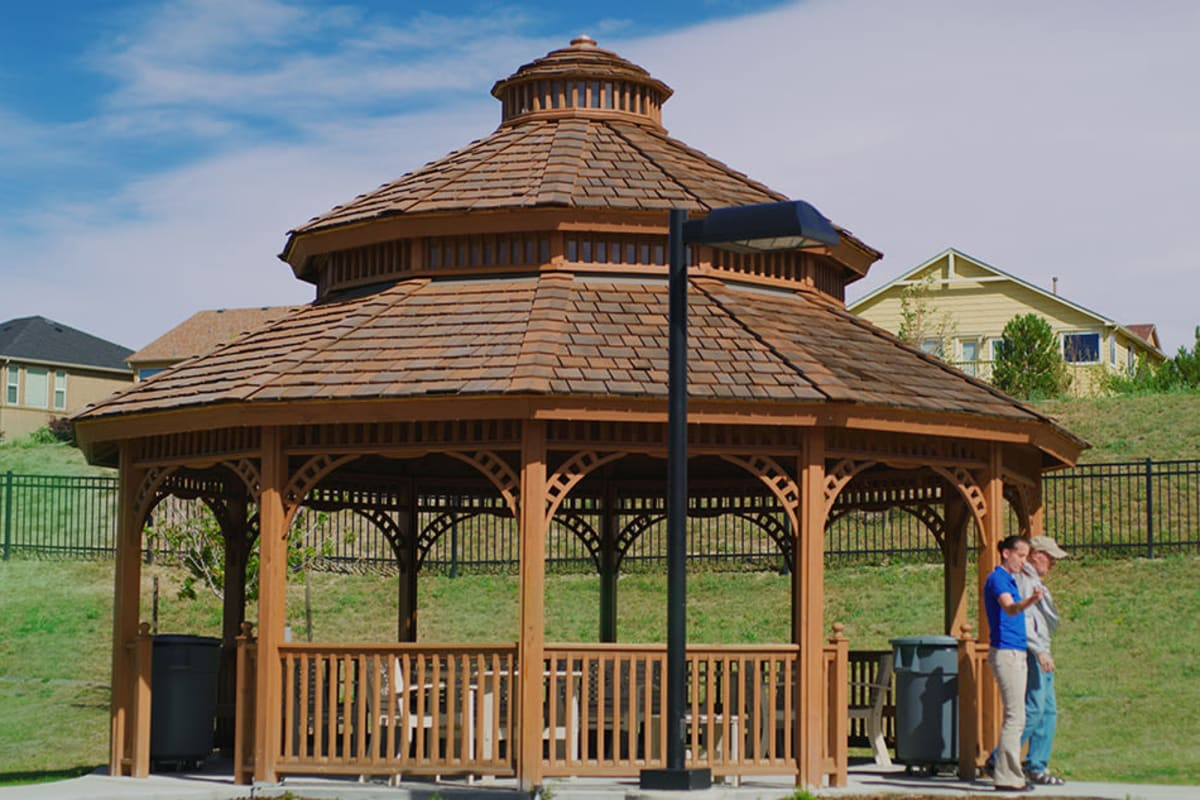 Gazebo at New Dawn Memory Care in Colorado Springs, Colorado