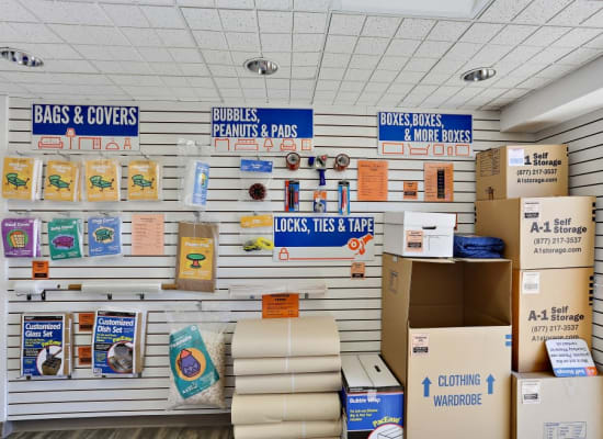 Packing and moving supplies available at A-1 Self Storage in Oceanside, California