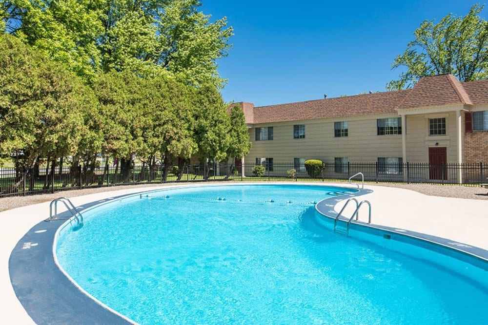 Refreshing pool at Imperial North Apartments in Rochester, NY