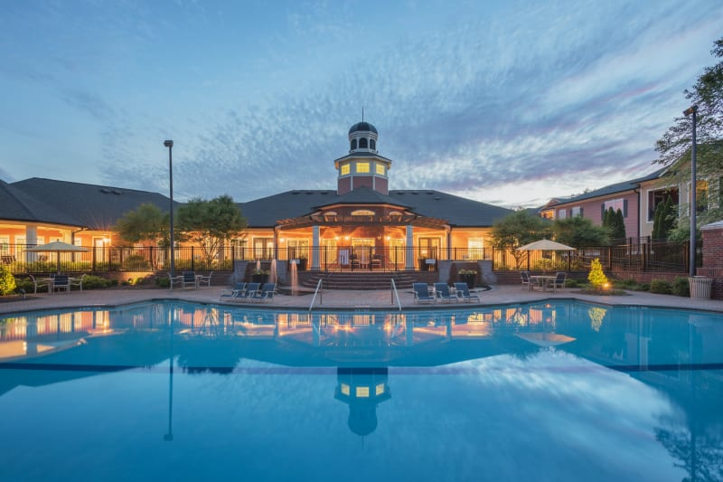 Resort style pool at The Vive in Kannapolis, North Carolina
