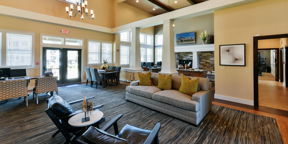 Luxury clubhouse for residents at Cottages at Abbey Glen Apartments in Lubbock, Texas