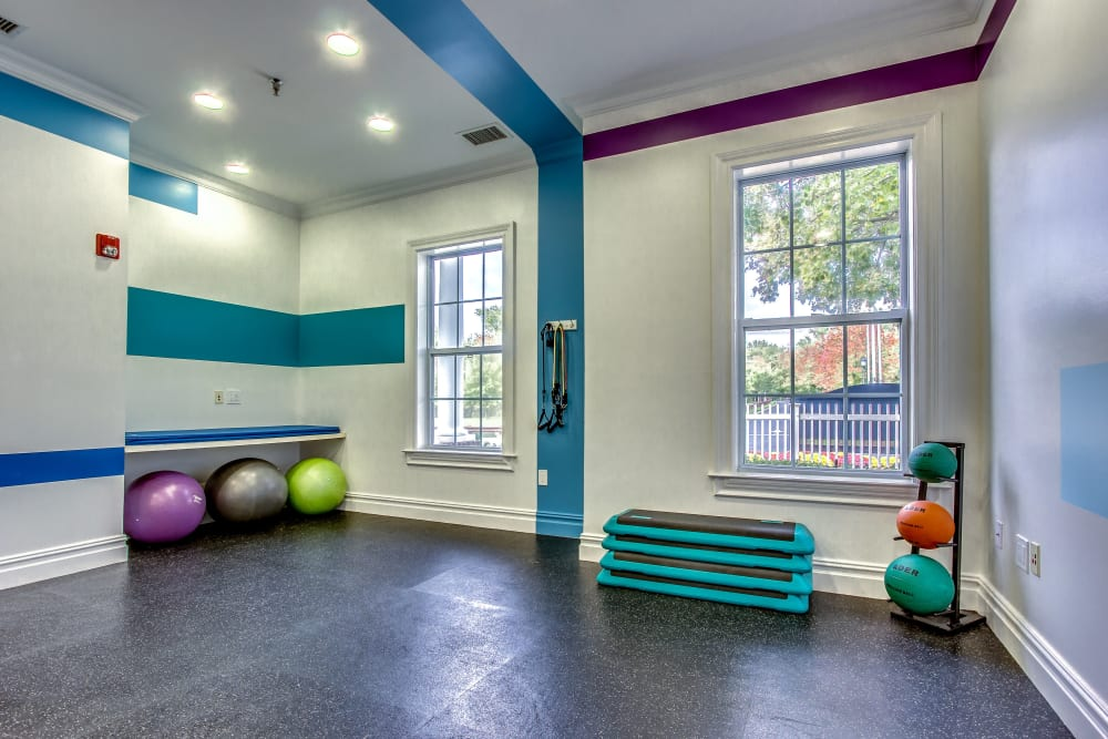 State-of-the-art fitness center at Eagle Rock Apartments at Freehold in Freehold, New Jersey