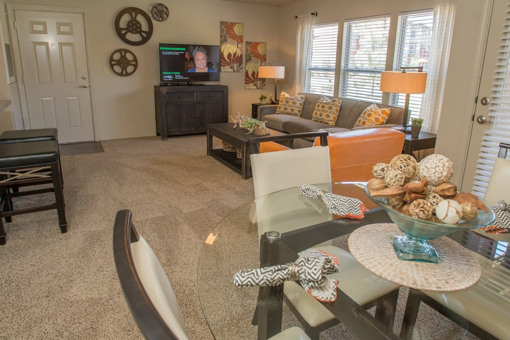 Wonderful living room at The Reserve at Elm in Jenks, Oklahoma