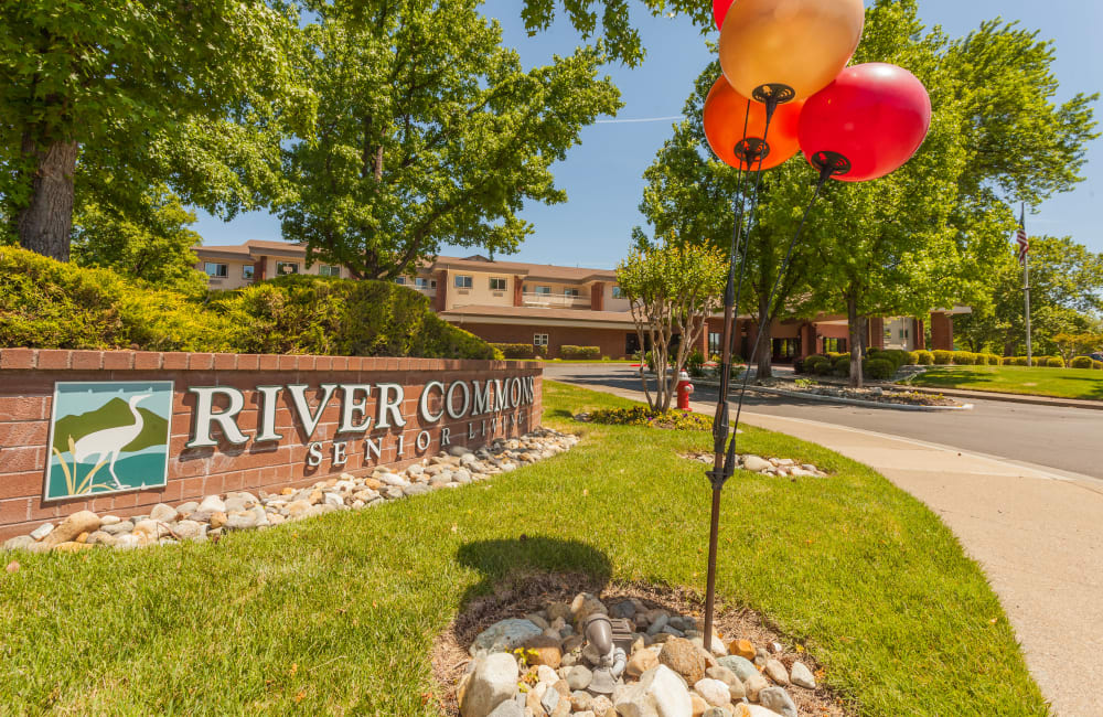 Entrance to River Commons Senior Living in Redding, California