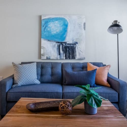 Modern furnishings at Haven Hills in Vancouver, Washington